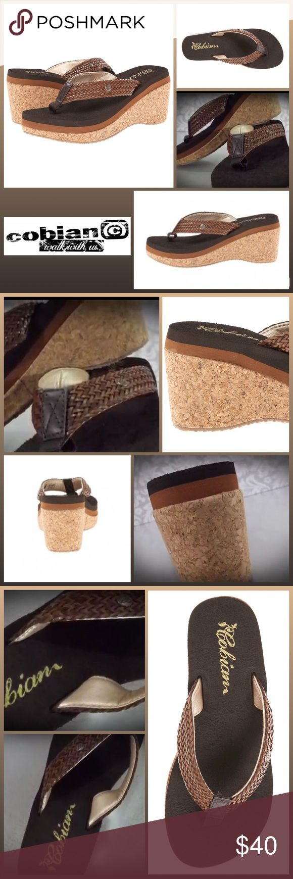"""JUST IN 🆕 'OLIVIA' CORK WEDGE SANDAL ▪️Leather woven strap and toe post ▪️Cork wedge ▪️Metal Cobian icon detail on strap. ▪️Brushed EVA topsole with anatomical arch support built in ▪️EVA wedge design keeps this sandal lightweight ▪️Rubber outsole with repeating tread for added grip. ▪️Height: 2 1/2"""" ▪️Platform Height: 3/4 in  🛍BUNDLE=SAVE  🚫TRADE🚫HOLD🚫MODEL  💯Brand Authentic  ✈️Ship Same Day--Buy By 2PM PST  🖲USE OFFER BUTTON TO NEGOTIATE   ✔️Ask Questions Not Answered In…"""