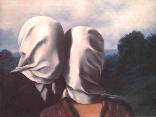 """""""los amantes"""" obras de René Magritte"""