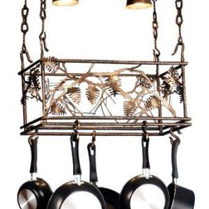 Meyda Whispering Pines Rustic Pot Rack  #rustickitchen #PotRack #Kitchen