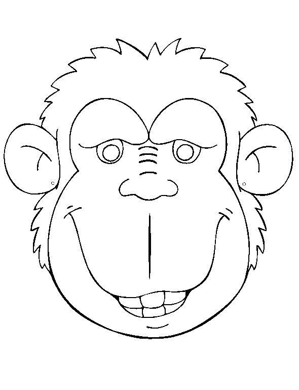 KleuterDigitaal - wb masker aap