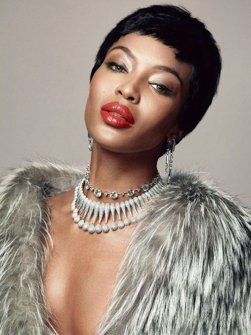 Naomi Campbell featured in Madame Figaro, a French magazine supplement to the Saturday edition of the daily newspaper Le Figaro.