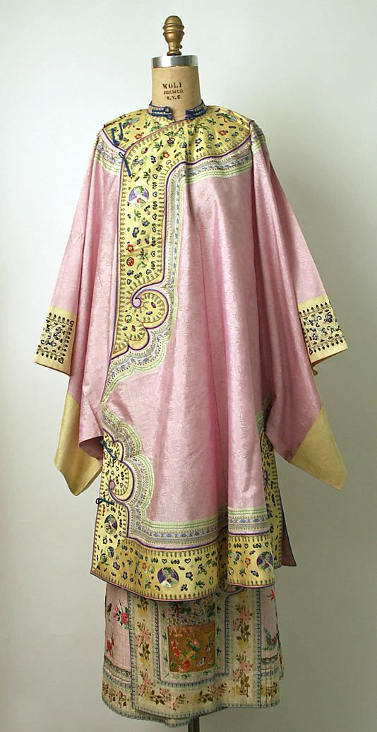 "19th century Chinese Women's ""five-terrace sleeve"""