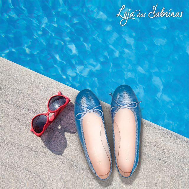Mergulhe no verão com as nossas Sabrinas Piton Azul, elas são a melhor companhia para os seus dias de férias.