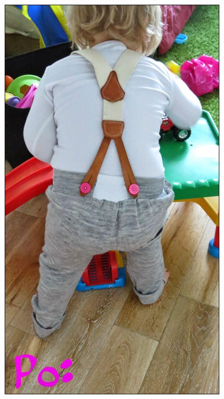 pumpy z dzianiny wełnopodobnej na szelkach sewing kids szycie dzieci diy