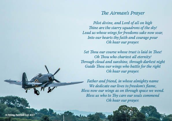 The Airman S Prayer Funeral Poem Grief World War Two