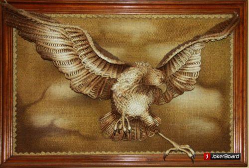 macrame imagen del águila macrame