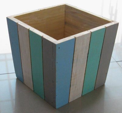 Neat idea for a planter using scrap lumber
