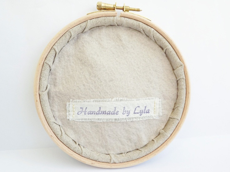 How to finish the back of a hoop embroidery art