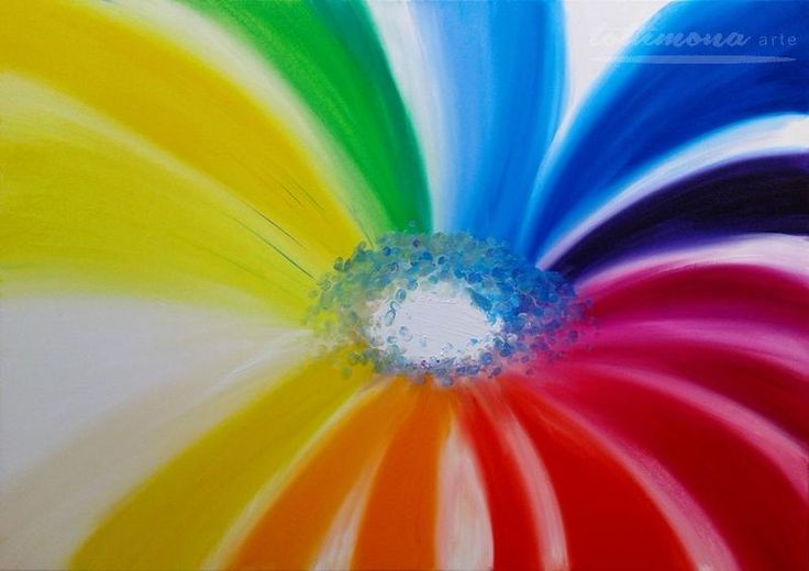 Flower of life  -  finger painting | oil on canvas | 85x60cm