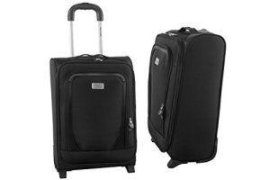 Valise trolley semi-rigide PIERRE CARDIN noir bagages à main ryanair S264