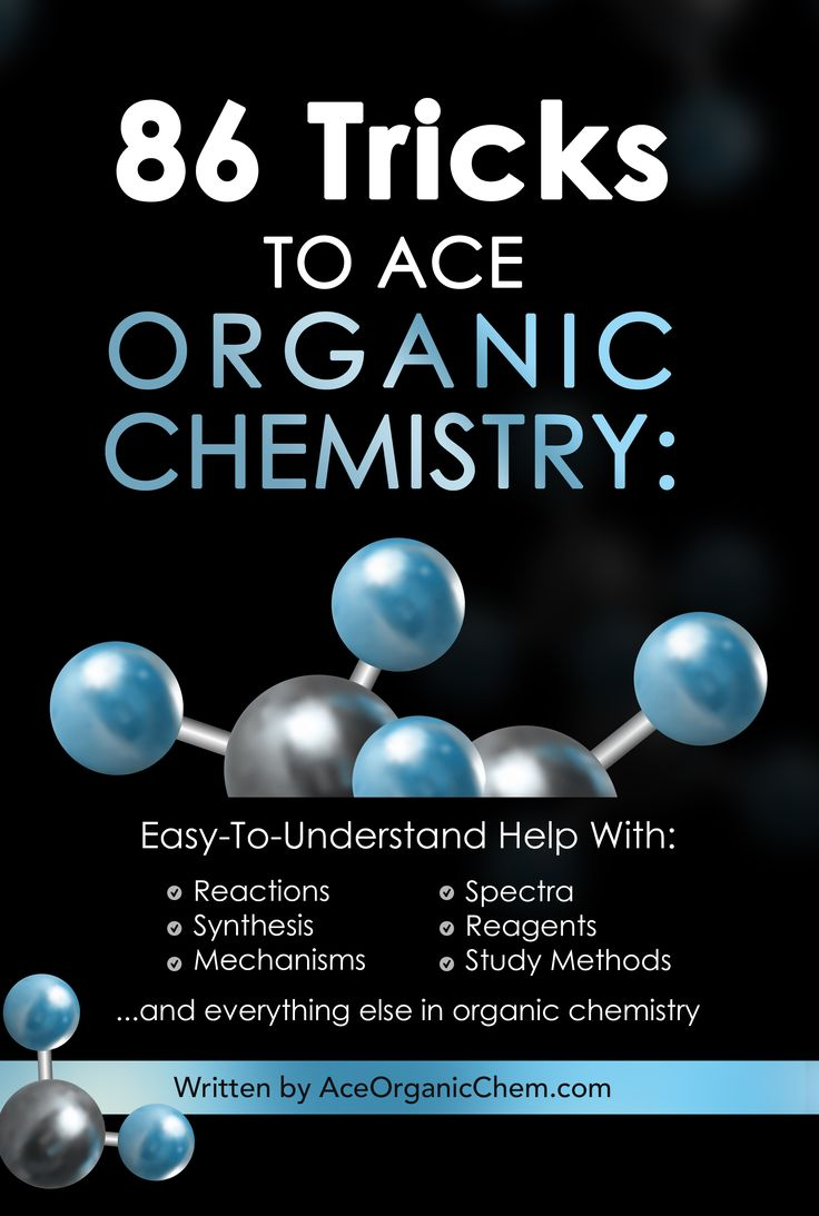 Top rated on Amazon, Only $11.99.  Learn the top 86 organic chemistry test tricks that your professors will not tell you. From how to ace synthesis problems, to little-known helpful reactions, to interpreting spectra, this book is designed to help organic chemistry students of all levels.