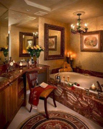 Luxurious Tuscan Bathroom Decor Ideas 32 #Tuscandecor Tuscan decor