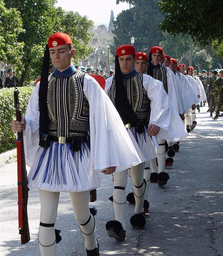 """30-10-11  Traditional Greek """"euzon"""" combat uniform since 1821."""