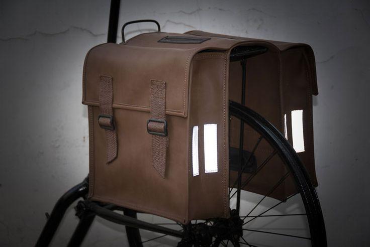 Alforja de imitación piel para bici