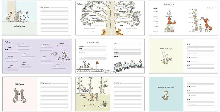 Echo Art Bindery - Baby book pages #babymemorybook, #babybook, #babyjournal, #echoartbindery