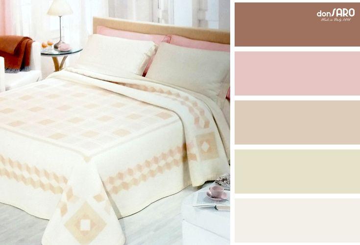 #Cober | Per un'atmosfera classica, palette rosa oro coperte camera da letto
