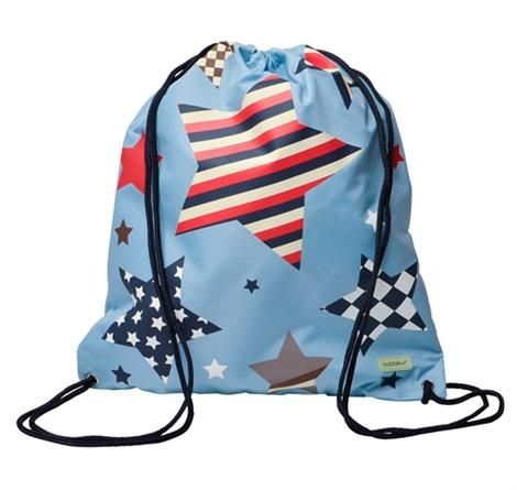 Bobble Art Swimming Bag - Multi Star    Price: $24.95    Bobble Art Multi Star Drawstring Bag - guaranteed to delight any little boy! Perfect for swimming gear, library bag and just about anything else when you're out & about!