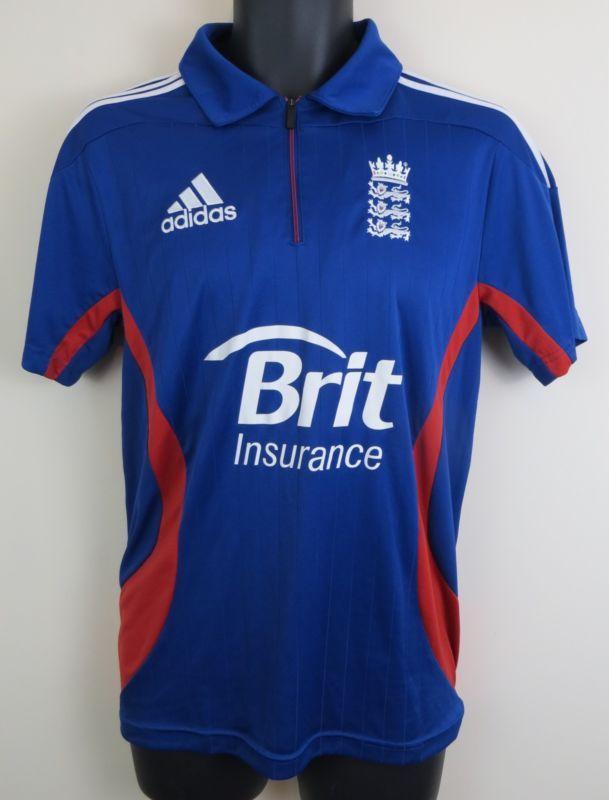 Adidas England Cricket Shirt Jersey One Day Blue 2012 36/38 S