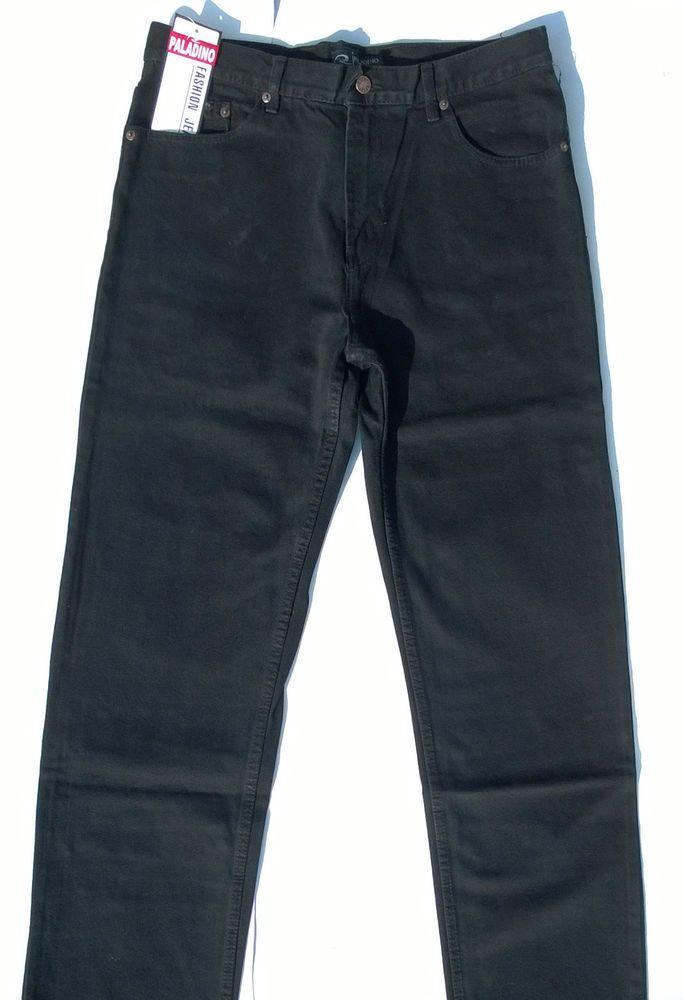 Jeans Uomo Paladino Tg.46/60 Cotone 100% Zip Front 5 Tasche Nero Prezzo Speciale