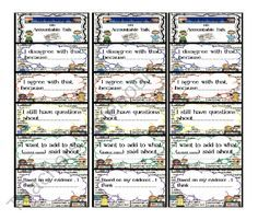 Accountable Talk Bookmark from Ms Jones Junction on TeachersNotebook.com (1 page)