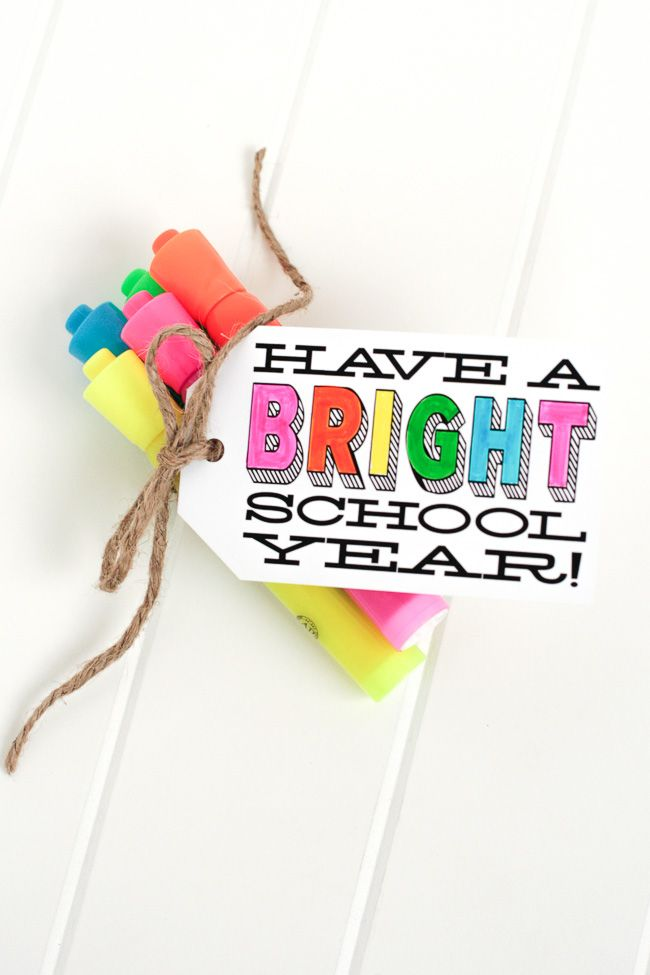 Free Printable! Bright Idea for Back to School | The TomKat Studio