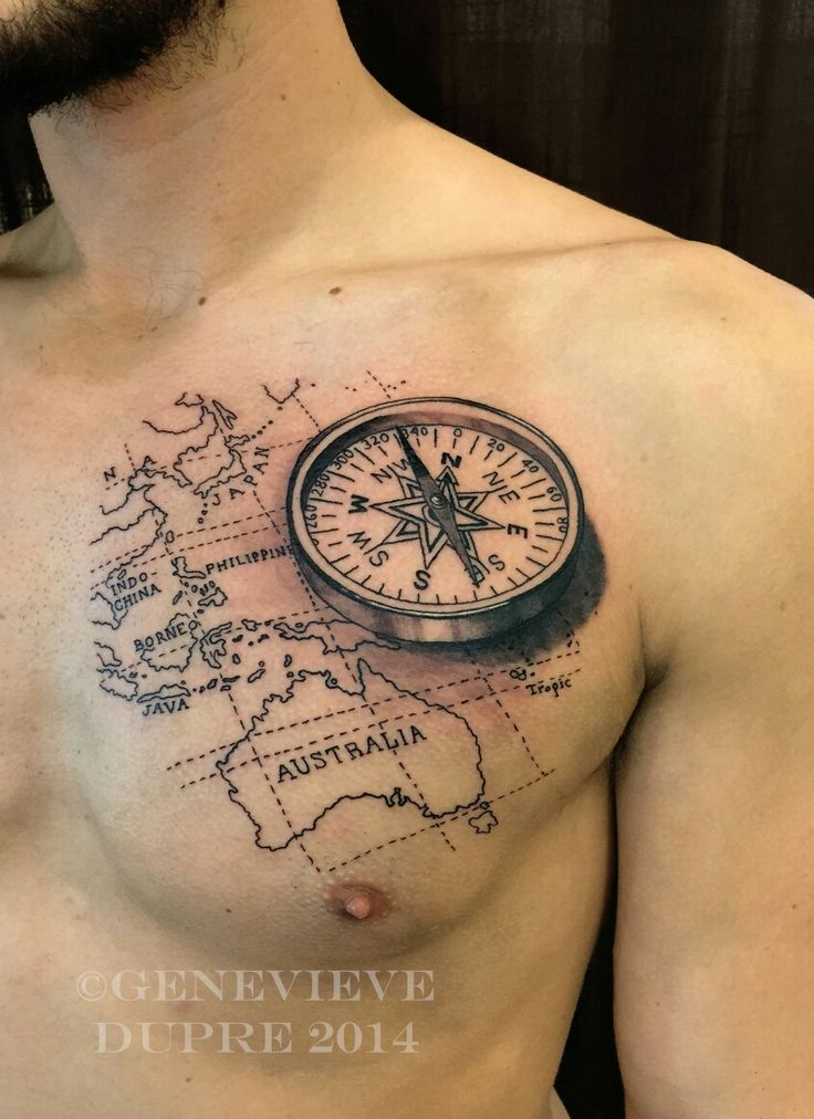 Depth and detail. | Tattoos | Compass tattoo, Tattoos, Map ...