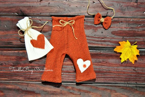 Newborn Photography Set  FALL Upcycled Burnt by ToodleBugCreations