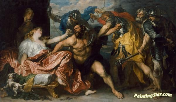 Samson and delilah i Artwork by Anthony van Dyck Hand-painted and Art Prints on canvas for sale,you can custom the size and frame