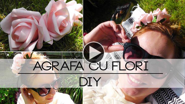 Am Făcut O Agrafă Simplă Cu Flori | DIY