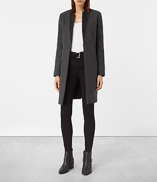 Womens Leni Coat (Charcoal) - product_image_alt_text_1