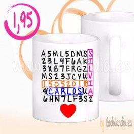 Taza personalizada sopa de letras