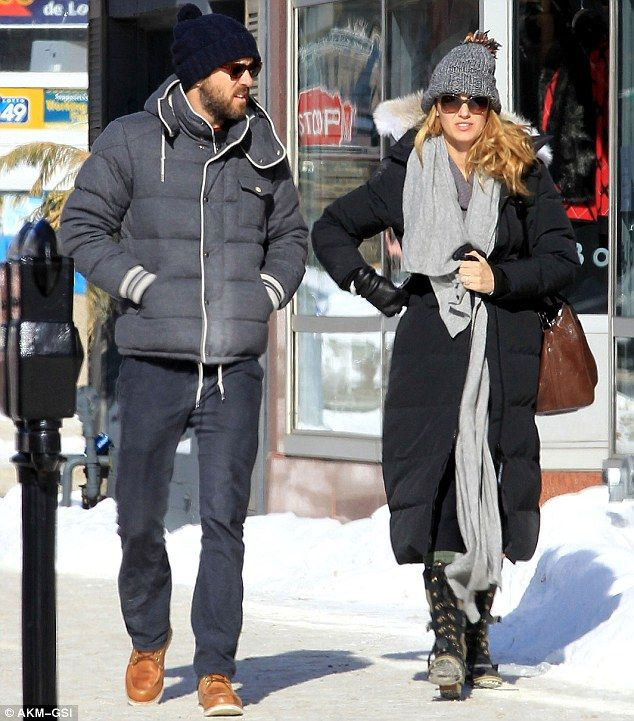 "Blake Lively and  Ryan Reynolds in Sudbury, Ontario where he is filming ""Queen of the Night"""