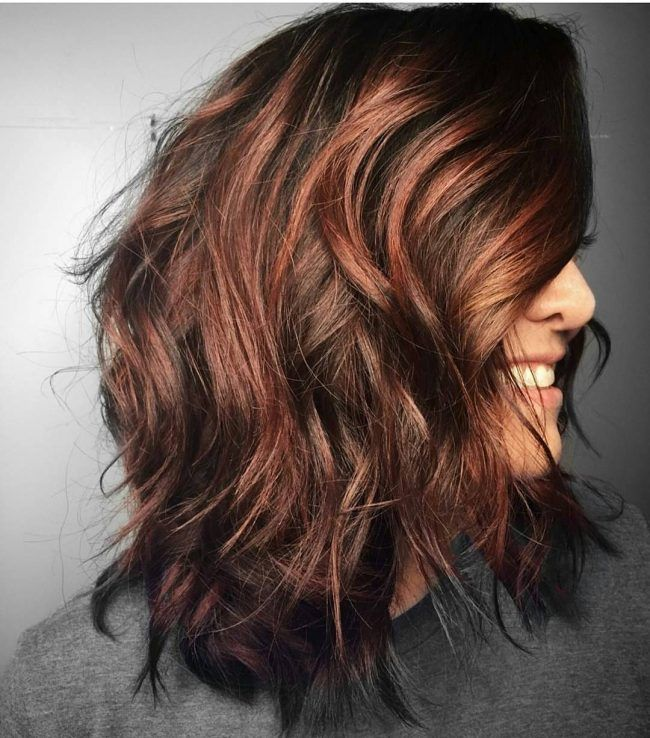 Best 25 auburn hair with highlights ideas on pinterest brown tousled curls with radiant auburn highlights pmusecretfo Images