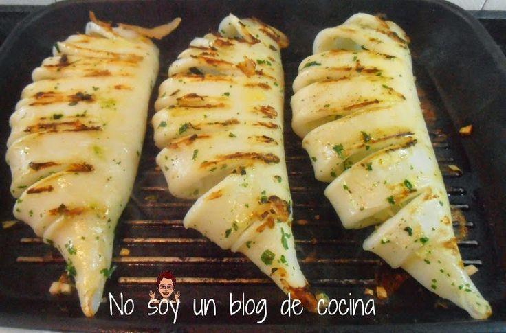 NO SOY UN BLOG DE COCINA→ Recetas paso a paso con imágenes: TUBO DE CALAMAR A LA PLANCHA