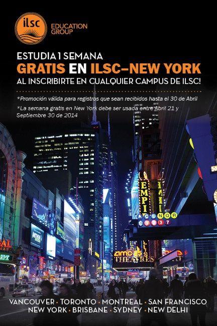 Estudia una semana gratis en ILSC NYC. www.canadaes.com