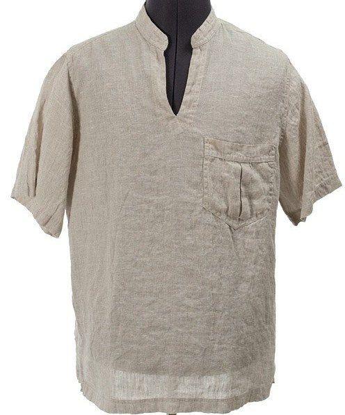Chemise masculine lin naturel, chemise masculine lin gris, linge, vêtements, vêtements de lin, chemise en lin bio, cadeaux hommes