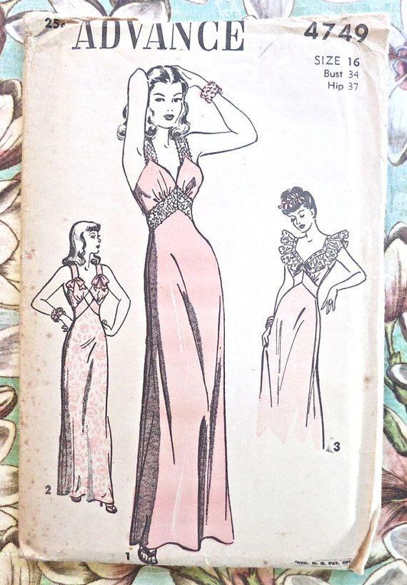 Avanzar 4749  Vintage de los años 40 las mujeres por Fragolina, $42.00