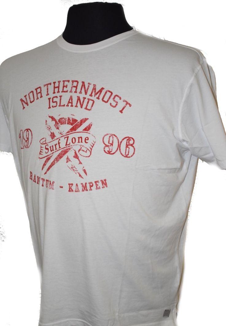"""Kitaro T-Shirt 181172-600 """"Surf Zone"""" weiß im Herrenmode Einkaufsparadies für große Größen Übergröße in 57644 Hattert, Lerchenweg 4 im Westerwald"""
