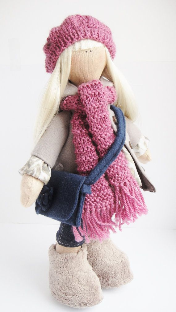Textile handmade Doll Emily by XeniArt on Etsy,