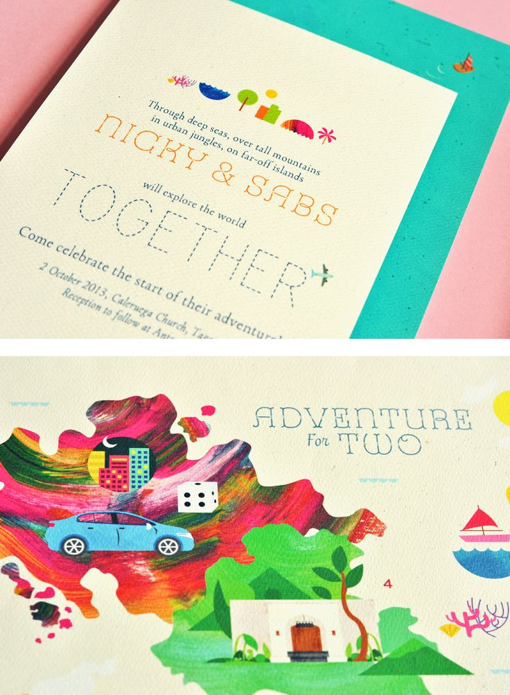Adventure for Two Invites → more on designvertise.com