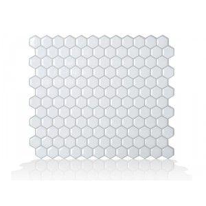 Carrelage mural pour salle de bain ou cuisine. Adhésif intelligent qui permet le repositionnement. Stabilité et durabilité garantie. Modèle: Hexago