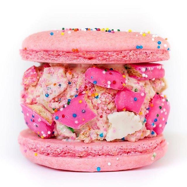 Macaron Ice Cream Sandwich.