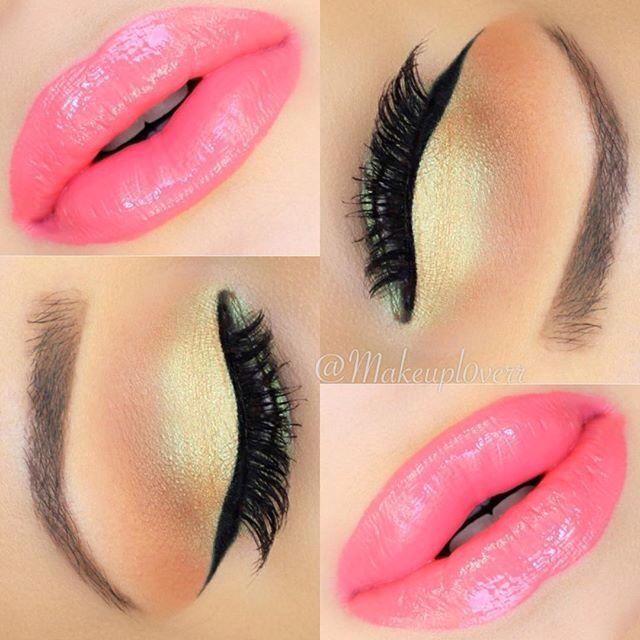 Love the peachy eye shadow