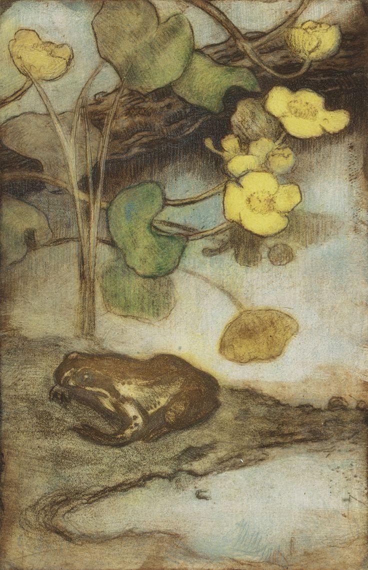 Eero Järnefelt (1863-1957) Rentukka ja sammakko, ajoittamaton. Ateneumin taidemuseo. Kuva: Kansallisgalleria / Jenni Nurminen