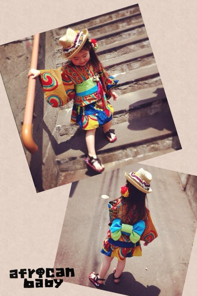 Kids summer kimono dress made in Japan available @ https://www.facebook.com/pages/Africa-Sunshine-Naya-Binghi/221943431159796