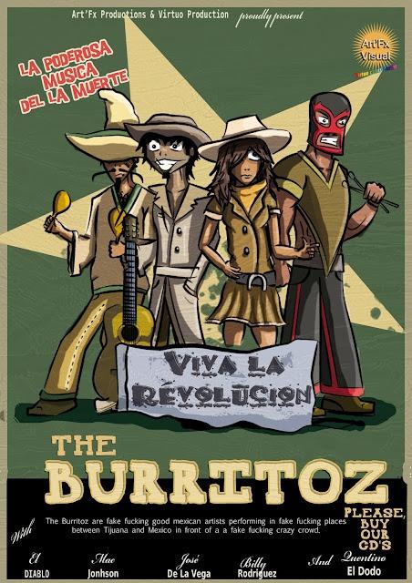 "The Burritoz ""live""- Illustration for Art'FX."