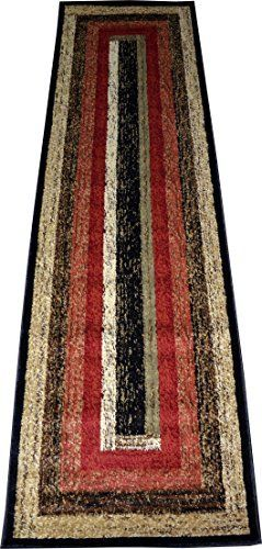 Dean Rustic Panel Lodge Cabin Ranch Southwestern Carpet Runner Rug 2'3 x 7'7  Price : $89.99 http://www.deanstairtreads.com/Dean-Rustic-Southwestern-Carpet-Runner/dp/B00MU2LRZI