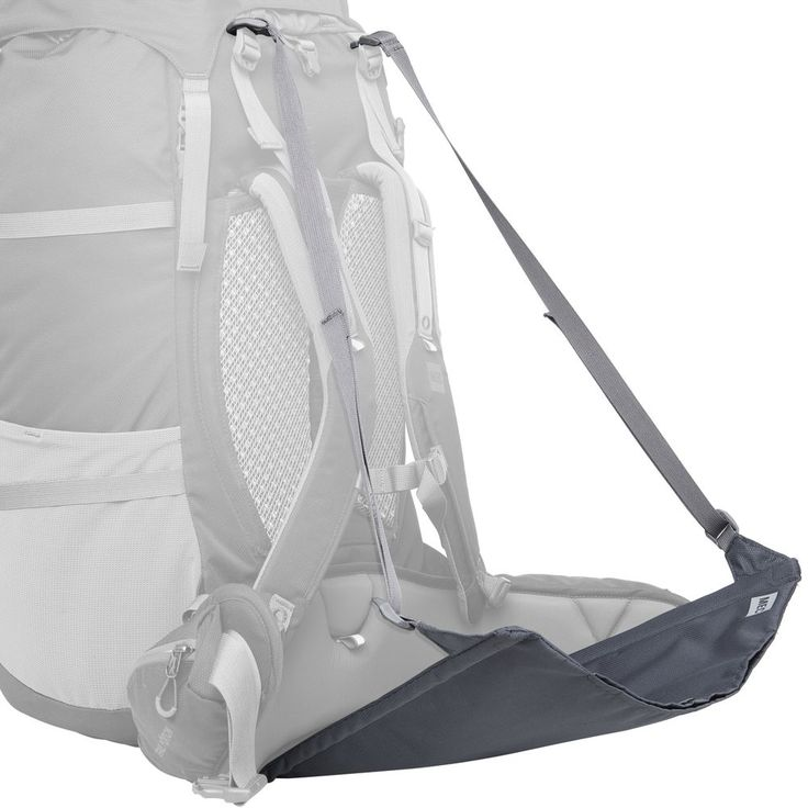 Attach this seat to your backpack for a comfortable rest trailside or in camp. Hooks clip to the bottom loops on your pack and the shoulder straps. Tension locks let you tune the angle of repose.