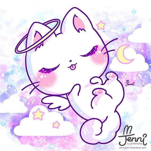 Pink Galaxy Chibi Cartoon Girl With Images Cute Drawings