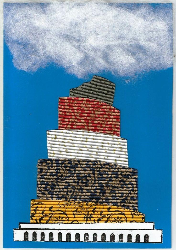 Вавилонская башня поделка The Tower of Babel craft